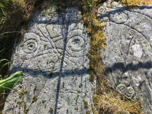 Pictish carvings on Trusty's Hill
